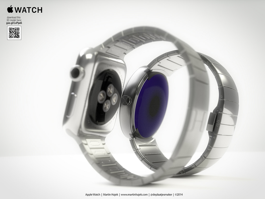 Apple Watch comparat cu Moto 360, Samsung Gear 2 Neo și Pebble Steel Într-o serie de randări profesioniste
