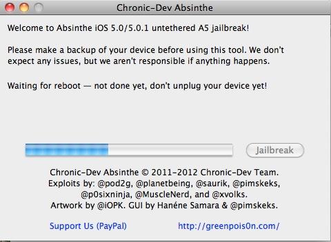Jailbreak untethered pentru iPhone 4S și iPad 2 prin Absinthe A5