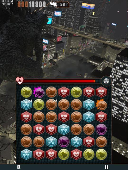 Godzilla Smash3 review (Samsung Galaxy S5): un fel de Candy Crush cu tile-uri radioactive și Godzilla În fundal luptându-se (Video)