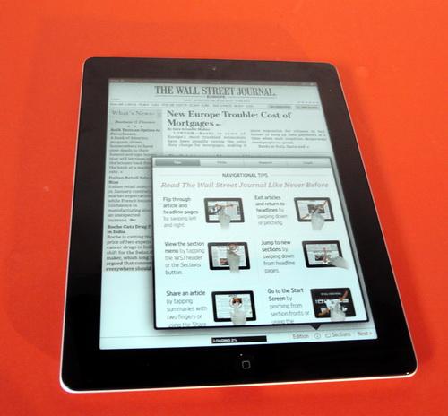 WSJ pe noul iPad