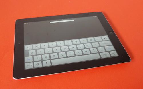 Tastatura virtuala a noului iPad