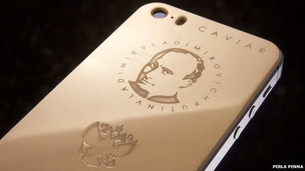 Dăm țarului ce este al țarului: telefoane din aur cu fața lui Putin disponibile În Rusia