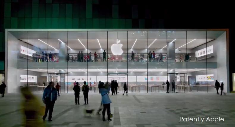 Apple primeşte două brevete de design pentru magazinul sau din Zhongjie Joy City, în China