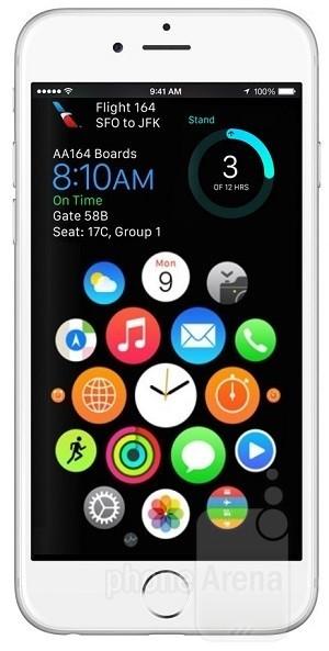 Interfaţa circulară a lui Apple Watch ar putea oferi indicii cu privire la viitorul lui iOS pe iPhone