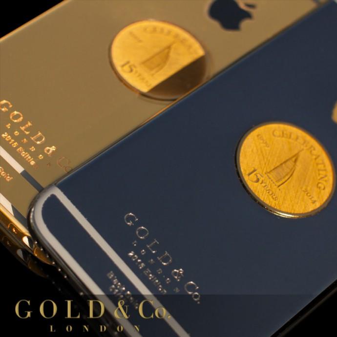 15 modele iPhone 6 acoperite cu aur comandate cu ocazia a 15 ani de existența Burj Al Arab