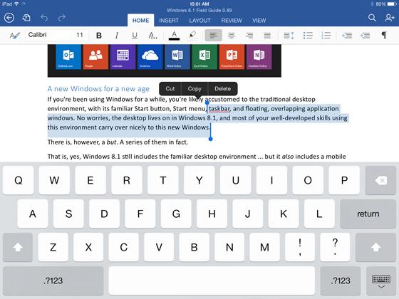 Microsoft anunță Office pentru iPad; pachetul de aplicații va fi disponibil Începând de astăzi În App Store