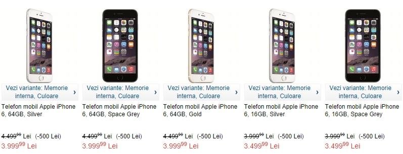 eMAG.ro listează acum și varianta de 64 GB a lui iPhone 6; disponibilă la un preț de 3.999 lei
