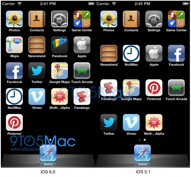 iOS 6.0 scalează corect o interfață cu 5 rânduri