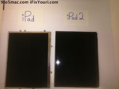 Display-ul lui iPad 2, fotografiat și comparat cu cel de pe primul iPad