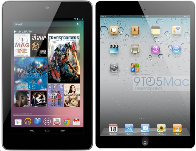 iPad Mini + Nexus 7