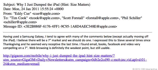 Oficiali Apple prinși spunând că le place Galaxy Tab-ul de 7 inch și că e nevoie de un iPad Mini!