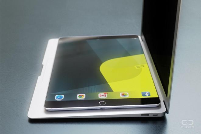 iPad Pro randat Într-un nou concept cu ecran 4K edge to edge