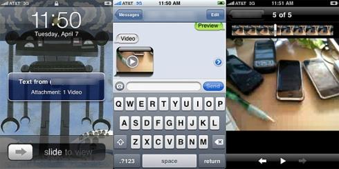 iPhone 3 va inregistra video