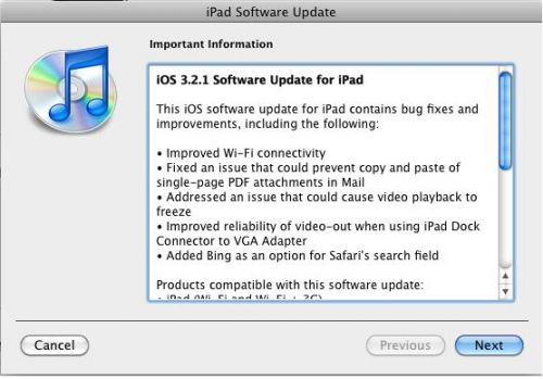 Update-ul iOS 4.0.1 disponibil acum pe iPhone; iOS 3.2.1 pe iPad