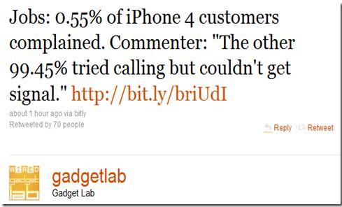Problema lui iPhone 4, expusa amuzant pe Twitter