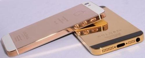 iPhone 5 din aur roz