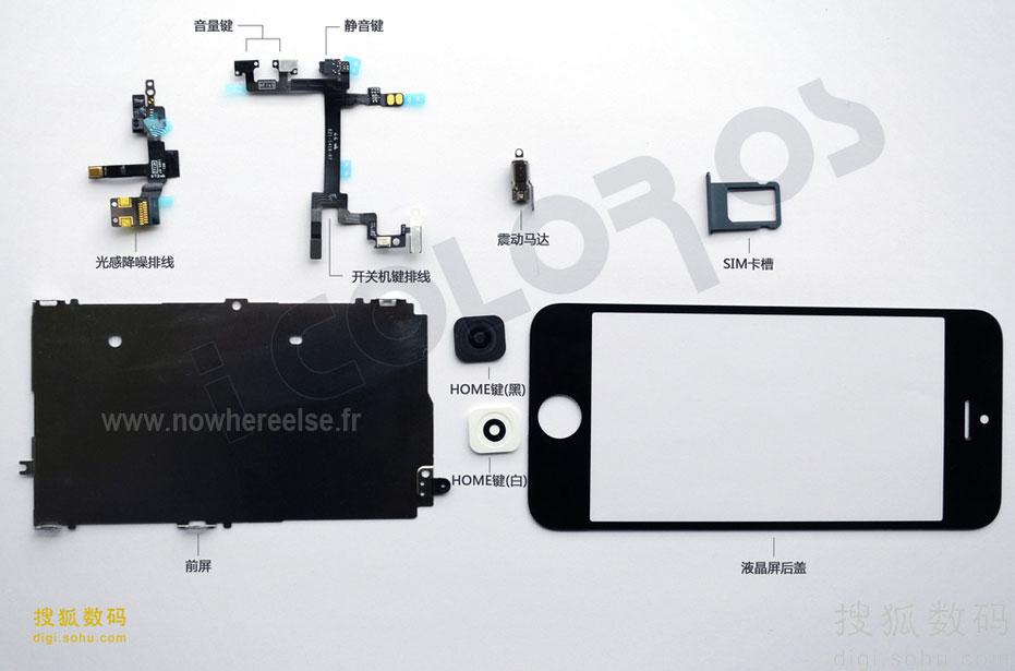 Noi fotografii cu componente iPhone 5! Azi panoul de display și mici componente interne