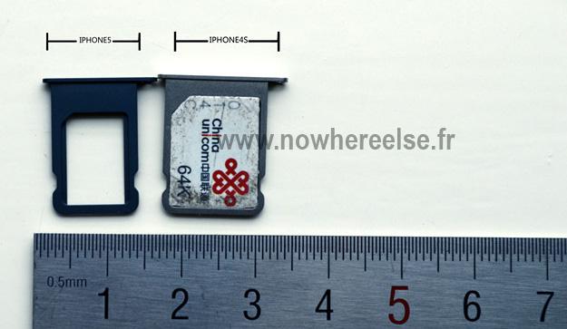 nano-SIM pe care iPhone 5