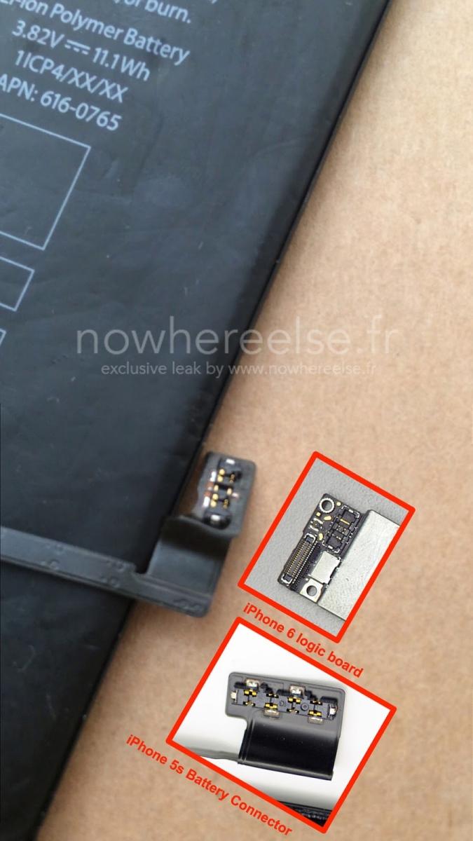 Bateria lui iPhone 6 de 5.5 inch e filmată, vine cu capacitate de 2915 mAh (Video)