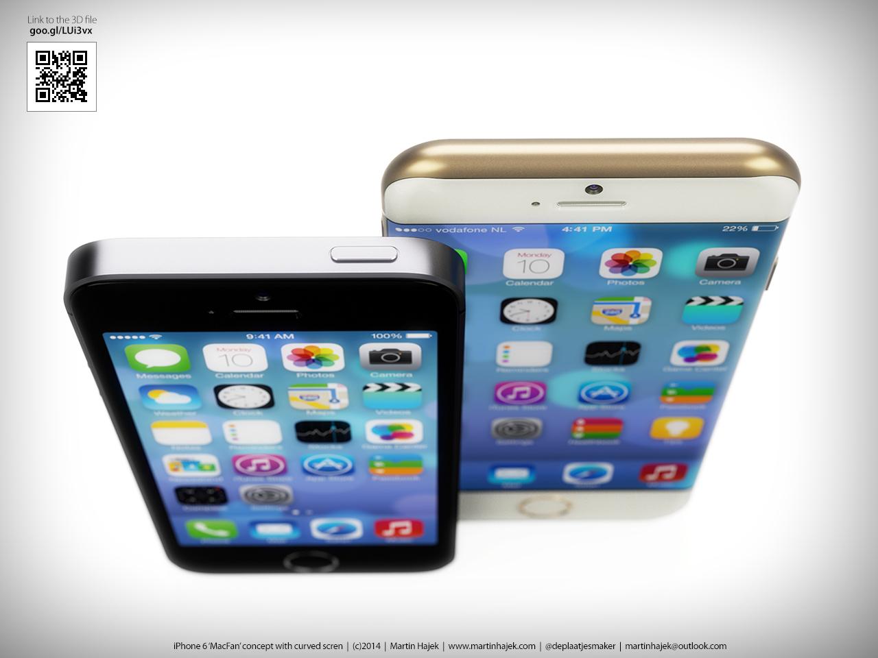 Designer-ul Martin Hajek prezintă un nou concept superb de iPhone 6 ce vine cu display curbat