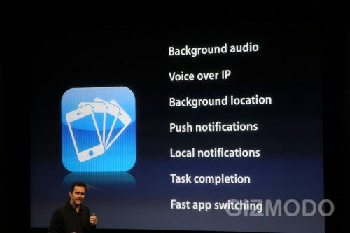 iPhone OS 4.0 - Multitasking