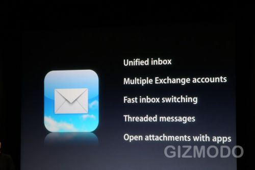 iPhone OS 4.0 - mailing