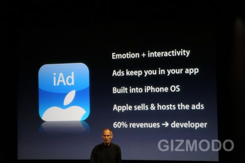 iPhone OS 4.0 - iAd