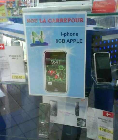 iPhone in Carrefour