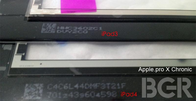 iPad 4 În noi imagini, cu camera frontală superioară, nou tip de asamblare a ecranului