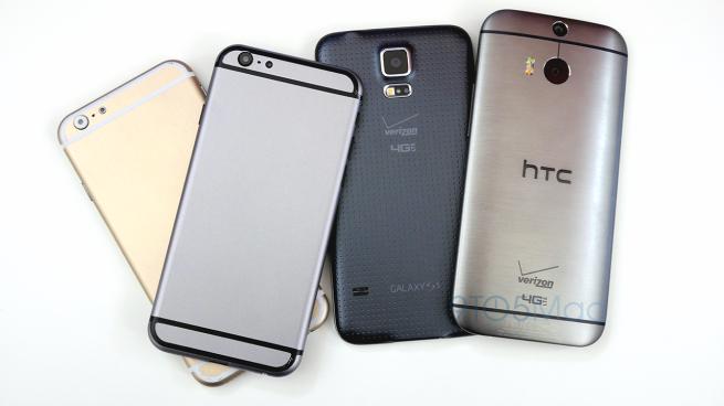 iPhone 6 comparat cu Samsung Galaxy S5 și HTC One M8 În fața camerei (Video)