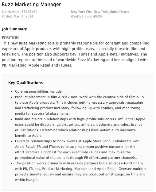 """Apple cauta un """"buzz marketing manager"""", care să Îi aducă iPhone-urile În mâinile vedetelor"""