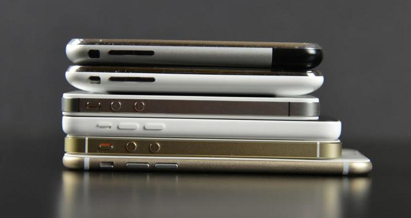 iPhone 6 versus toate modelele de iPhone de până acum: o galerie de colecție