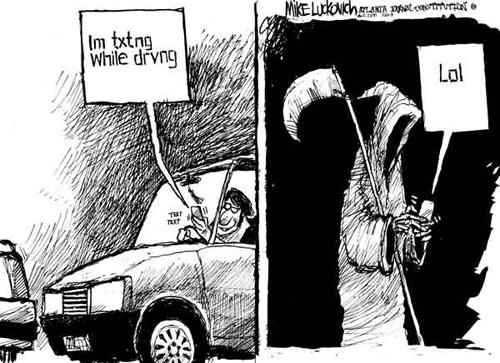 SMS la volan = moarte