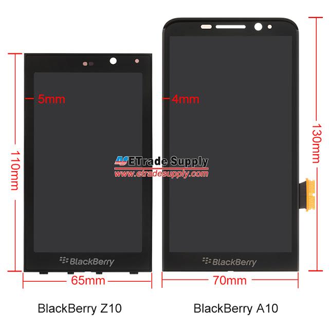 BlackBerry A10 comparat cu BlackBerry Z10: dimensiuni și format
