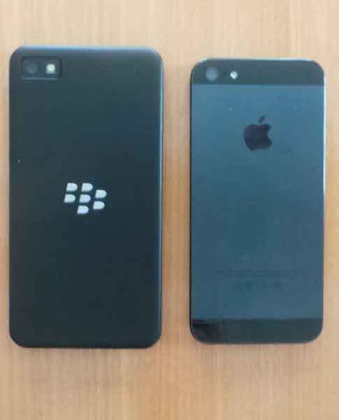 BlackBerry Z10 versus iPhone 5