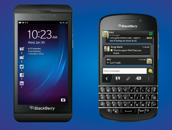 BlackBerry Z10 și BlackBerry Q10