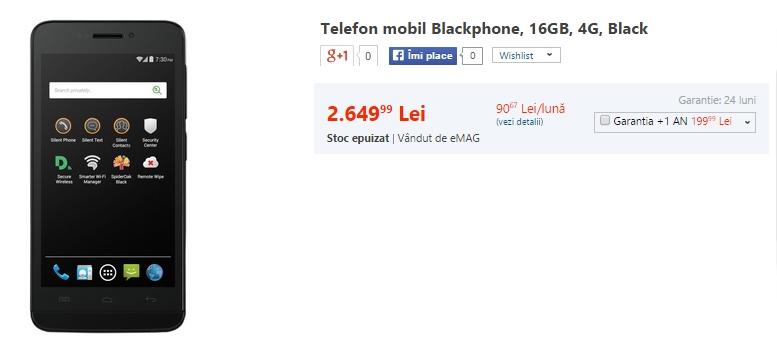 Blackphone, telefonul axat pe securitatea datelor personale ajunge la precomandă prin intermediul eMAG.ro