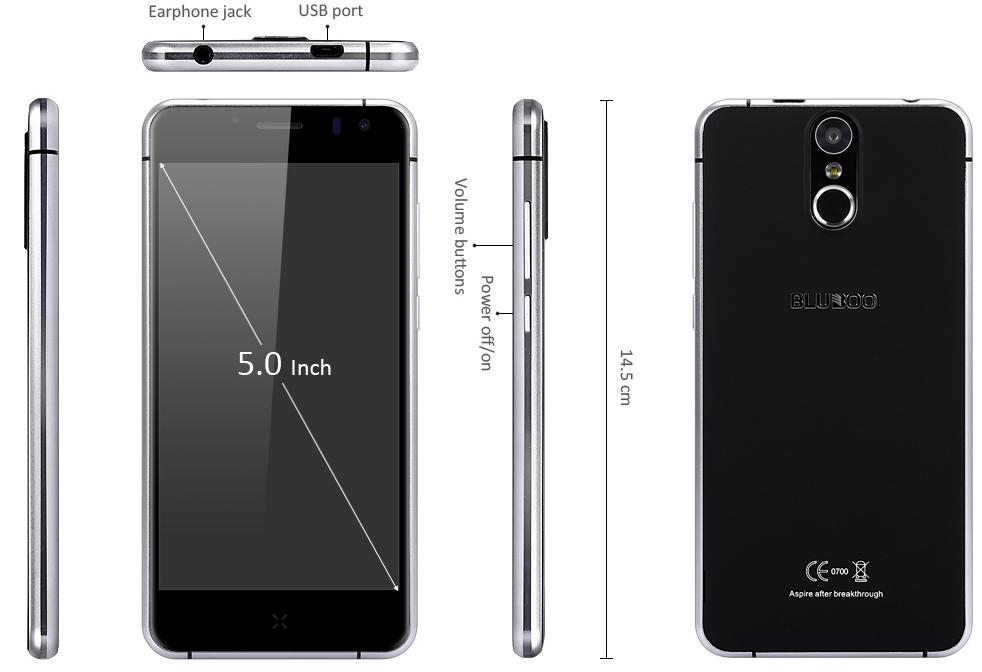 Pentru doar 149.99 dolari, Bluboo X9 ne aduce un display FHD de 5 inch, 3 GB RAM și scanner de amprente