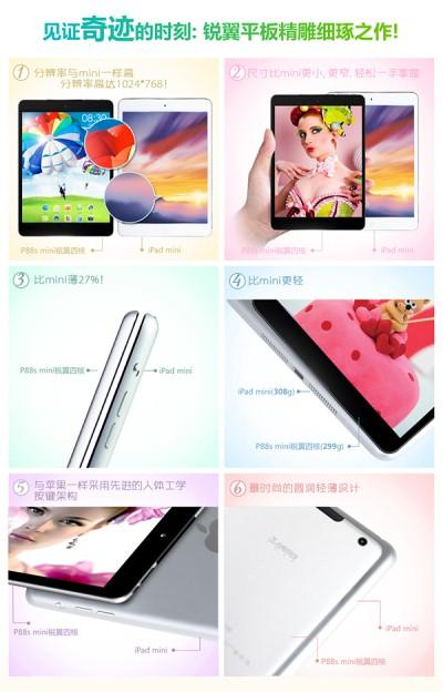 Taipower P88s Mini, cea mai subțire clonă de iPad Mini din lume costă doar 146 de dolari