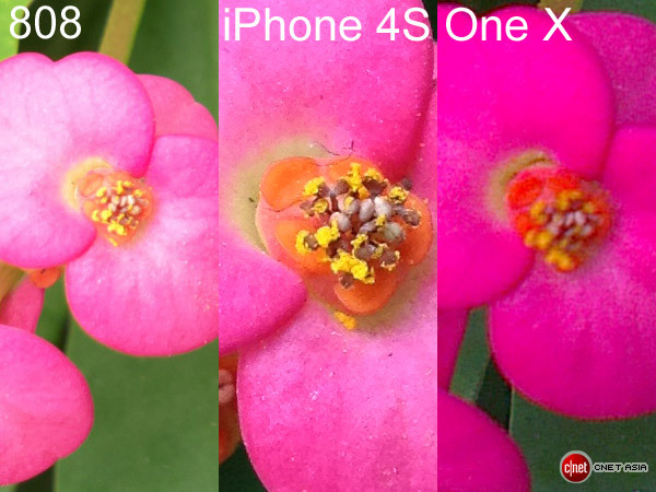 Nokia 808 PureView versus iPhone 4S versus HTC One X