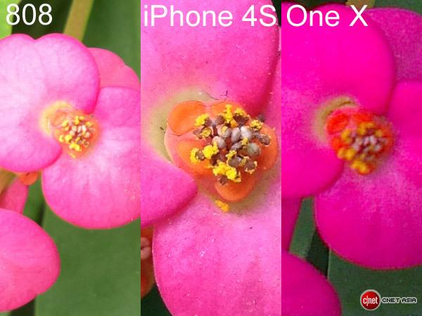 Nokia 808 PureView versus iPhone 4S versus HTC One X