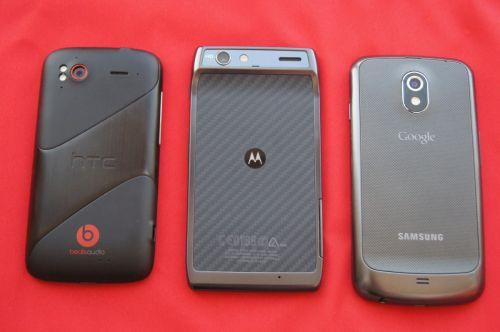 HTC Sensation XE vs Motorola RAZR vs Samsung Galaxy Nexus
