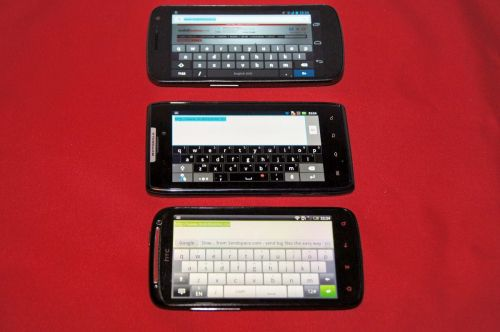 Tastatura HTC Sensation XE vs Motorola RAZR vs Samsung Galaxy Nexus