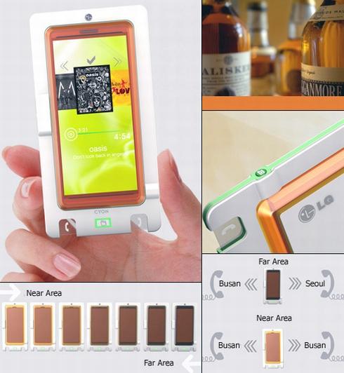 Telefonul Whiskey, un concept de terminal cameleon cu touchscreen
