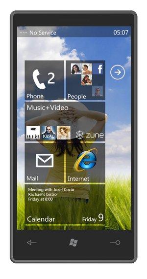 Cum ar putea arata Windows Phone 7 pe viitoarele telefoane XPERIA