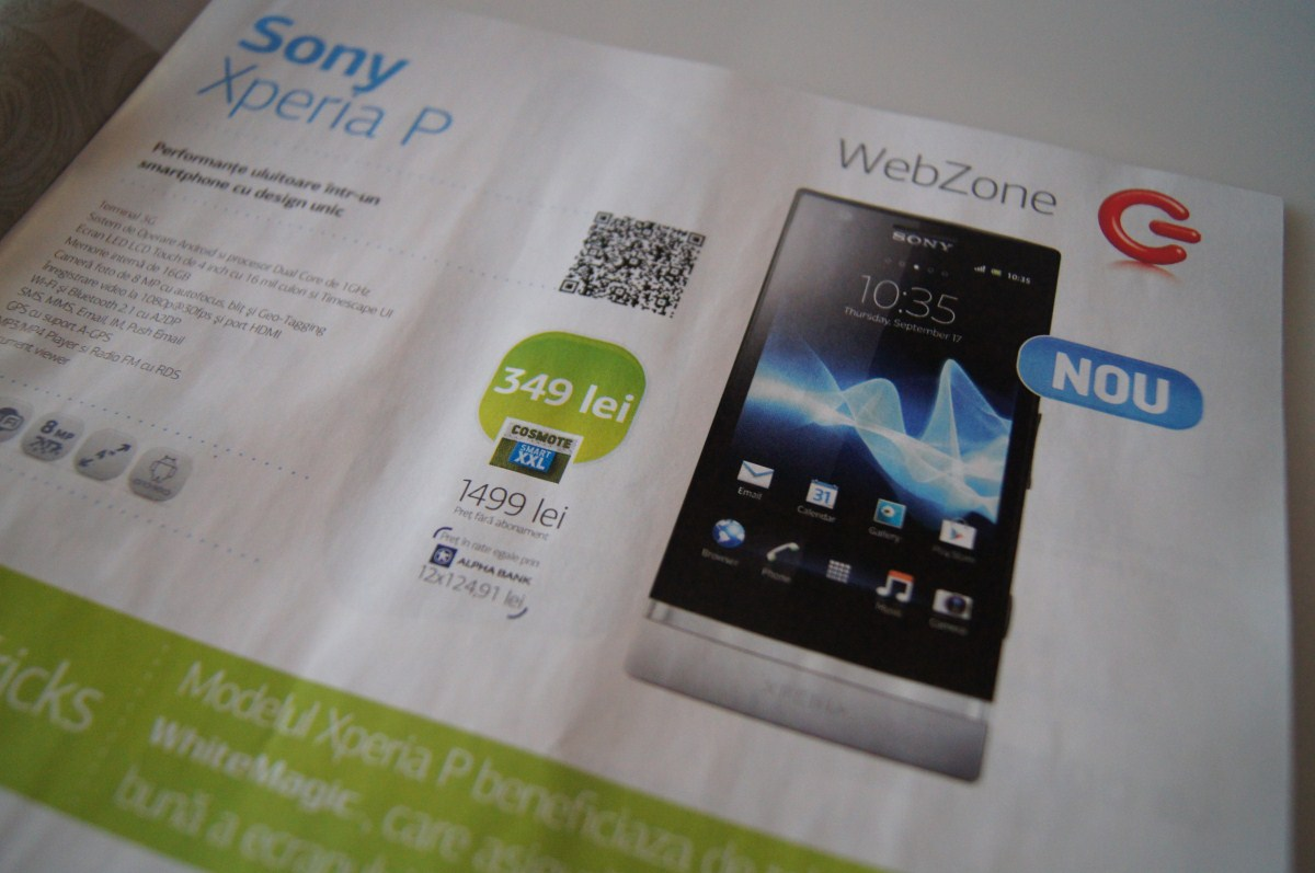 Telefoane noi În oferta Cosmote prin Germanos: Allview P4 AllDro, Sony Xperia P, se pregătește debutul lui