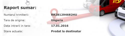 Coletele de la Gearbest livrate via Hungary Post din China trec prin următoarele servicii de coletărie: One World Express, Hungary Post și Poșta Română.