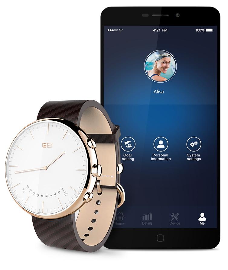 Smartwatch-ul Elephone W2 este scos din cutie în fața camerei video; vedem și un scurt hands-on