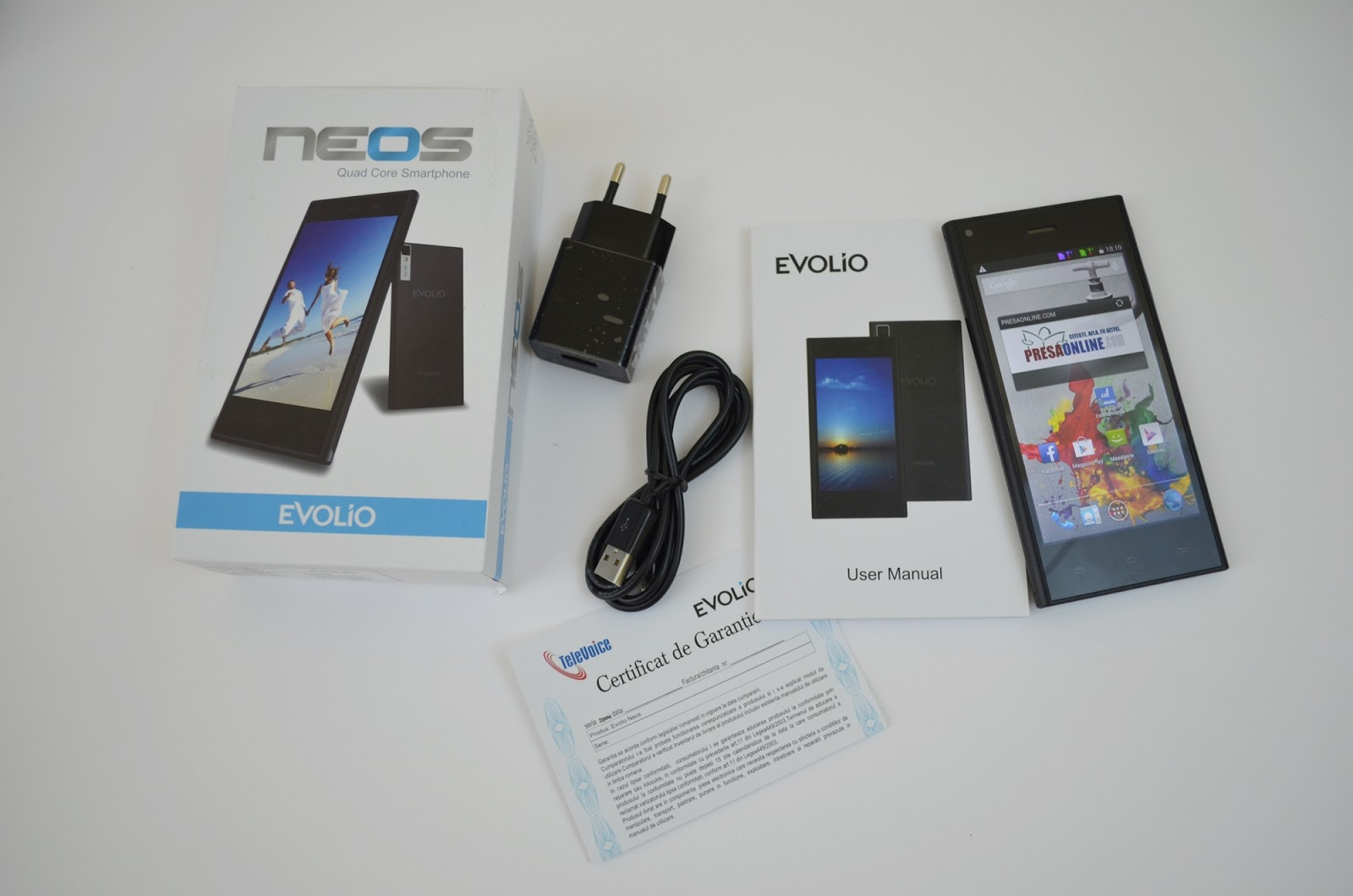 Evolio Neos unboxing
