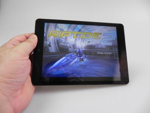 Evolio Quattro 3G ruleaza fara probleme Riptide GP2